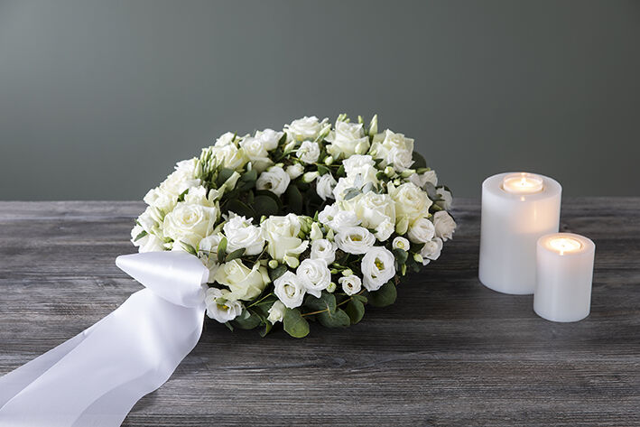 Krans til begravelse