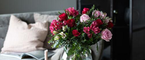Blomster morsdag og valentine