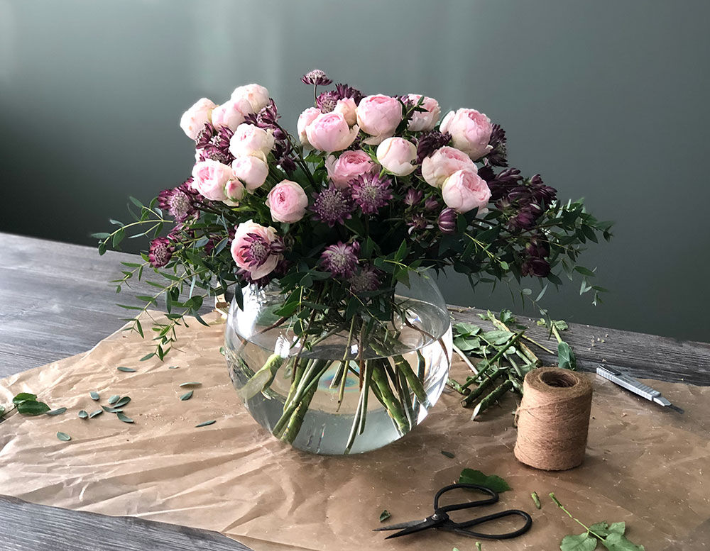 Vakker blomsterbukett