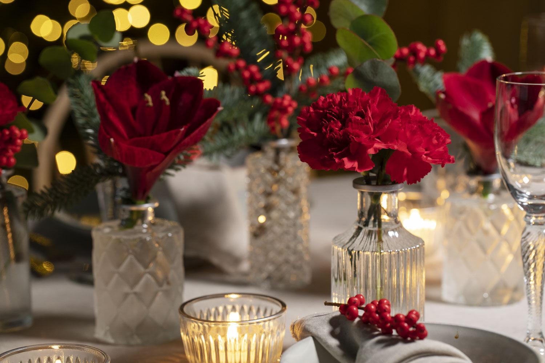 pynt bordet med amaryllis