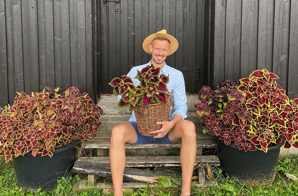 Arcticgardener med sine coleusplanter