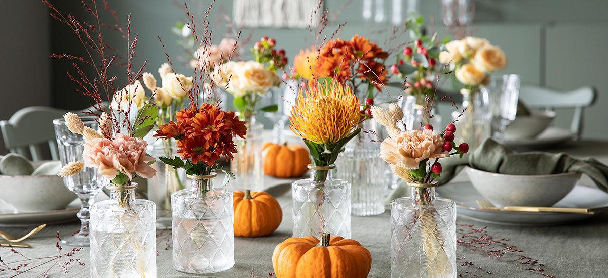 Pynt med dekorative gresskar