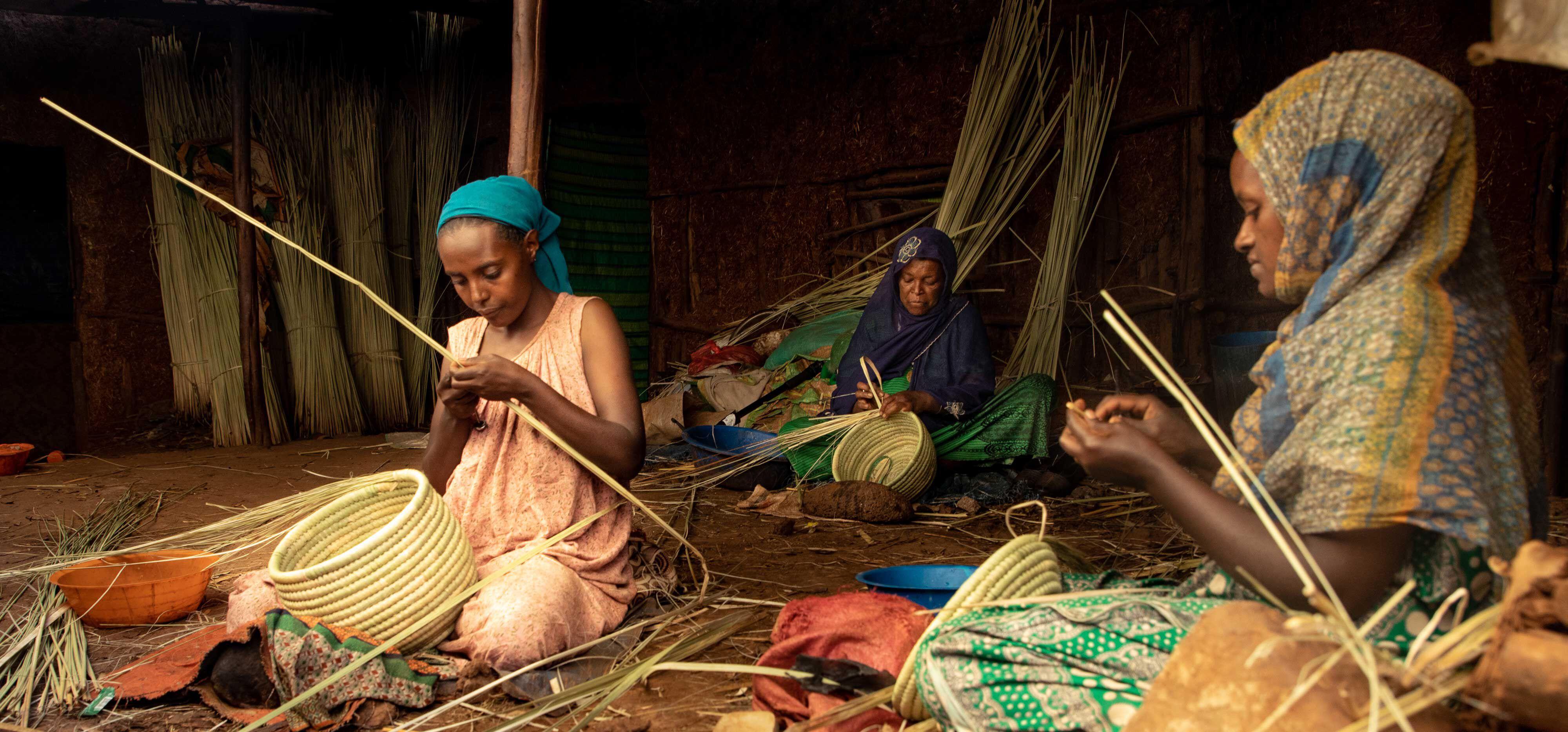 Kurvfletting er en viktig ferdighet i Etiopia