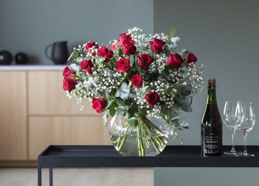 Rosebukett morsdag og valentine