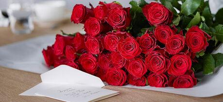 røde roser på farsdagen