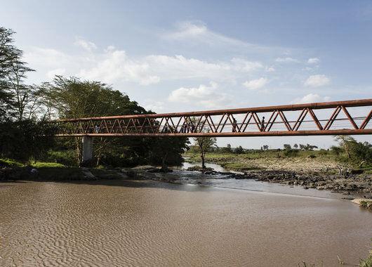 Fairtrade prosjekt bro over elven Athi