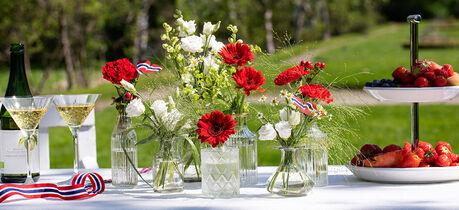 pynt et vakkert festbord til 17. mai