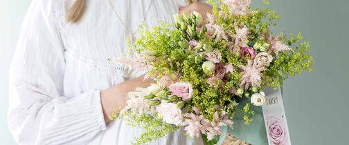 Blomsterbukett takk