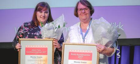 Mester Grønn vant Kundesenterprisen