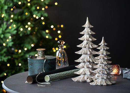 juletre og lys