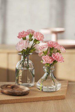 grennelliker i små vaser