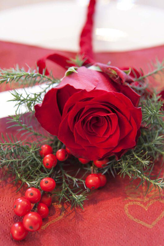 kuvertpynt med rose