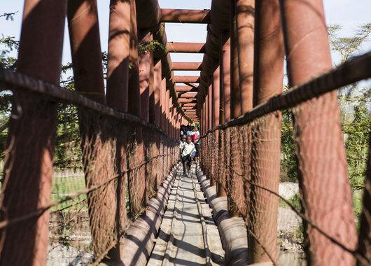 Fairtradeprosjekter bro over elven Athi