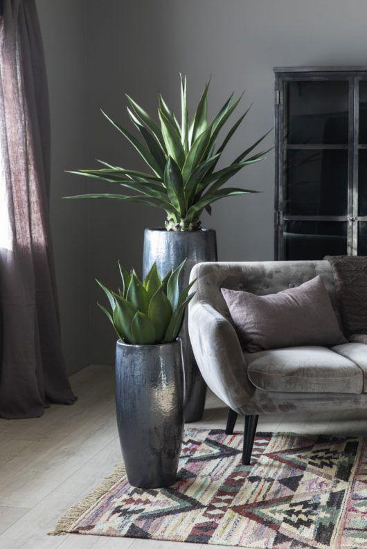 kunstig agave og sisal i grande krukker