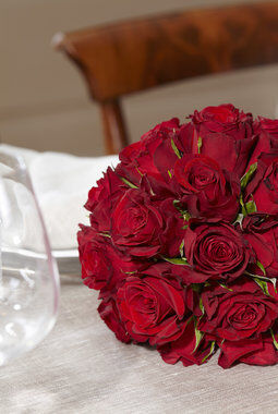 festbord med rosekule