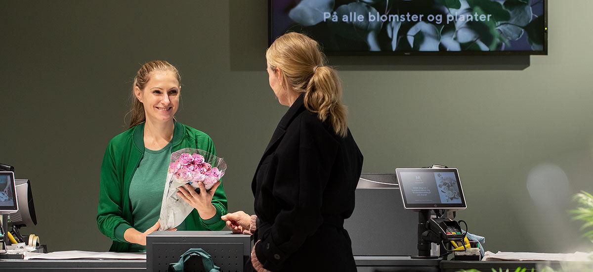 Mester Grønn butikk kundemøte