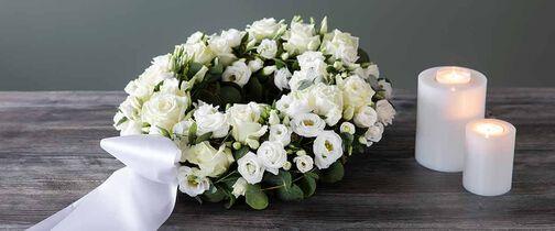 Blomster til begravelse