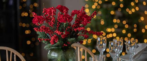 bukett med tulipaner til jul