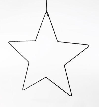 Metallstjerne med led lys