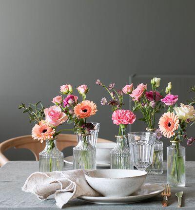 Lys rosa festpakke med små vaser