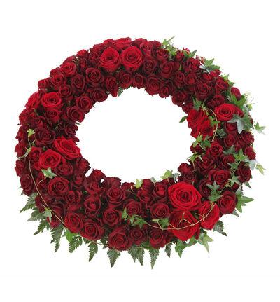 Krans med røde roser L