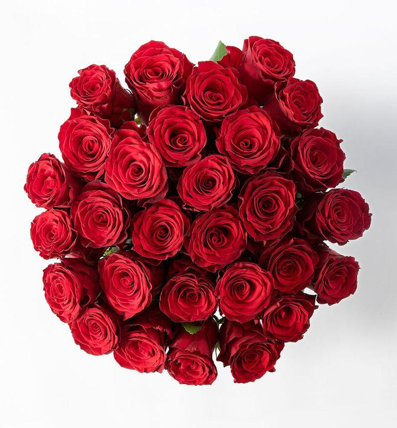 30 røde roser image number null