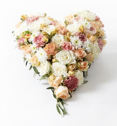 Miljøvennlig hjerte i fersken og rosa M