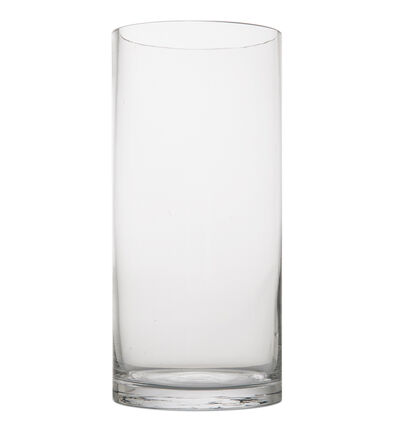 Glassvase sylinderformet