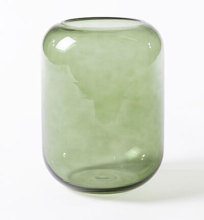 Glassvase Leaf M