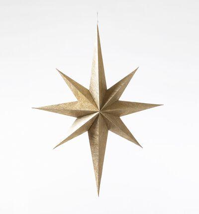 Papir stjerne i gull stor