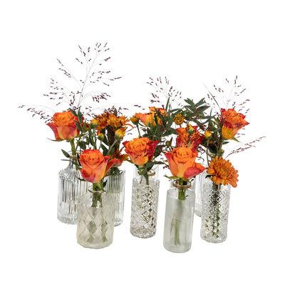 Gyllen festpakke med små vaser