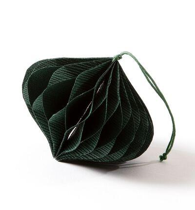 Papir ornament grønn dråpe S