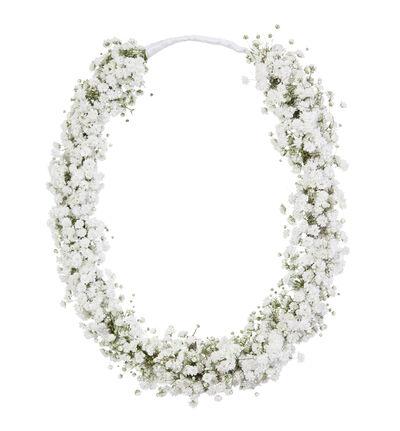 Blomsterring til brudepike med brudeslør