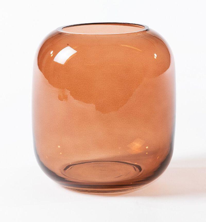Glassvase Leaf brun S image number null