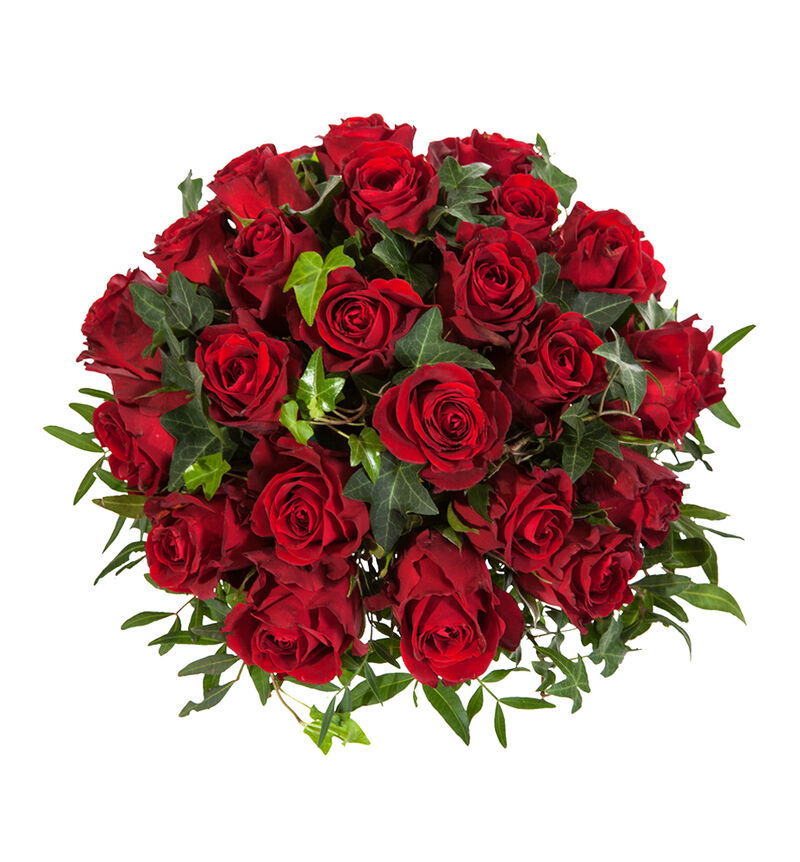 Borddekorasjon med røde roser image number null