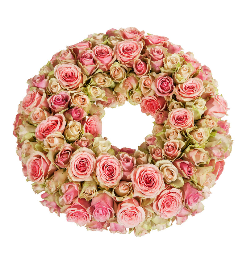 Krans med rosa roser S image number null