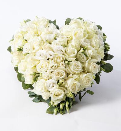 Miljøvennlig hjerte i hvitt S