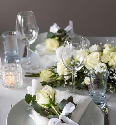Kuvert blomst med hvit rose