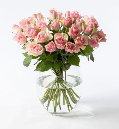 30 rosa Fairtrade roser