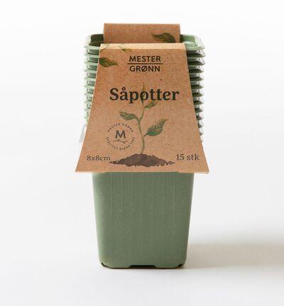 15 pk. grønne plastpotter