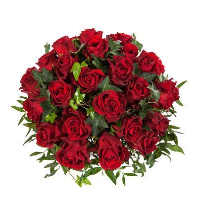 Borddekorasjon med røde roser