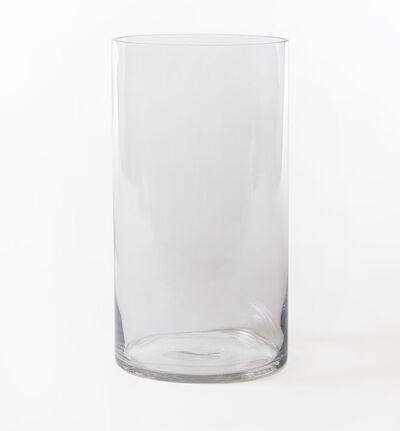 Glassvase sylinder klar