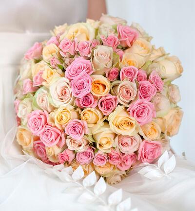 Stor Klassisk bryllupspakke i fersken og rosa