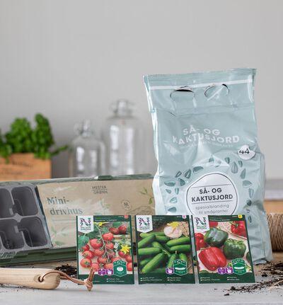 Frøpakke med grønnsaker