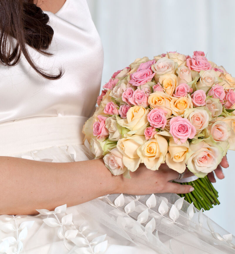 Medium Klassisk bryllupspakke i fersken og rosa image number null