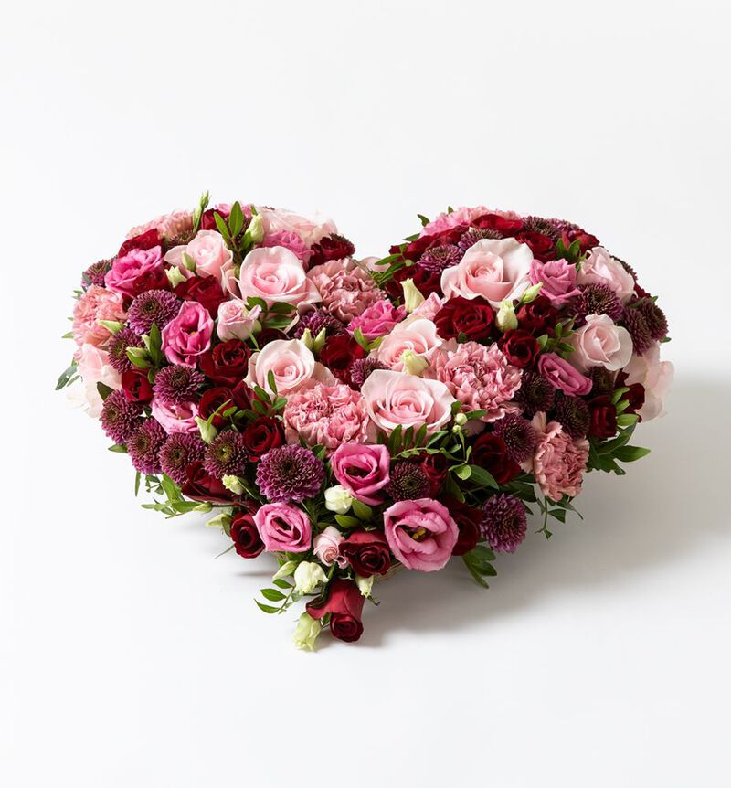 Hjerte i rosa og rødt image number null