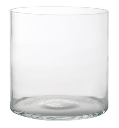 Glassvase rund