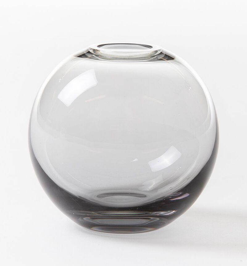 Misty glassvase gråbrun mini rund image number null