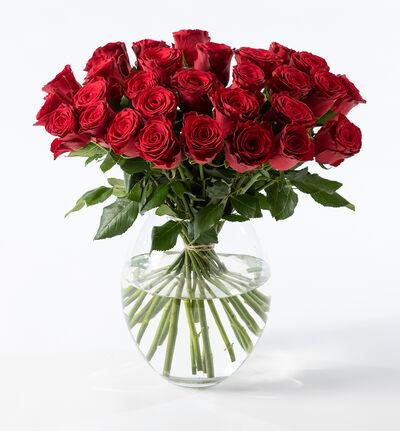 30 røde roser