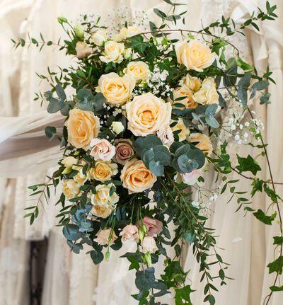 Bohemsk brudebukett i fersken